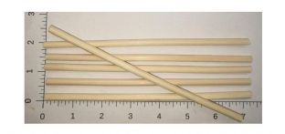 Extra Thick (approx 6 mm) Natural (Light Brown Rattan Reeds (Approx 180 mm Long)